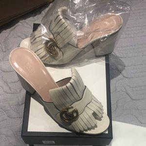 Gucci Marmont Kiltie fringe shoes. Never worn.